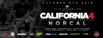FIVE GRAPPLING CALIFORNIA 4 (NORCAL) - 10.6.18