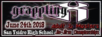 6/24/2018 Grappling X Adult & Masters Gi and No-Gi Jiu Jitsu Championships