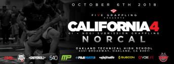 FIVE GRAPPLING CALIFORNIA 4 (NORCAL) - 10.6.18
