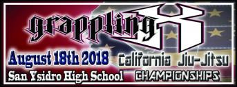 Grappling X 8/18/2018 California Jiu Jitsu Championships (Gi & No-Gi Divisions)